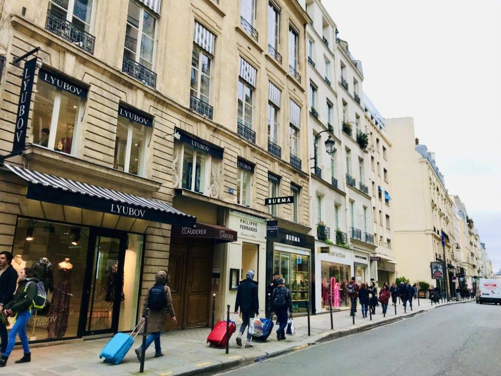 Rue Saint Honoré in Paris