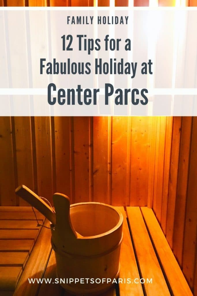 tips for your Center Parcs family holiday pin