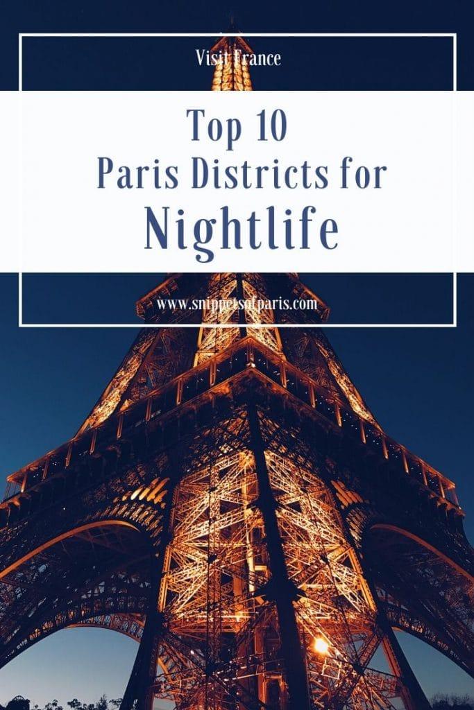 Paris nightlife pin