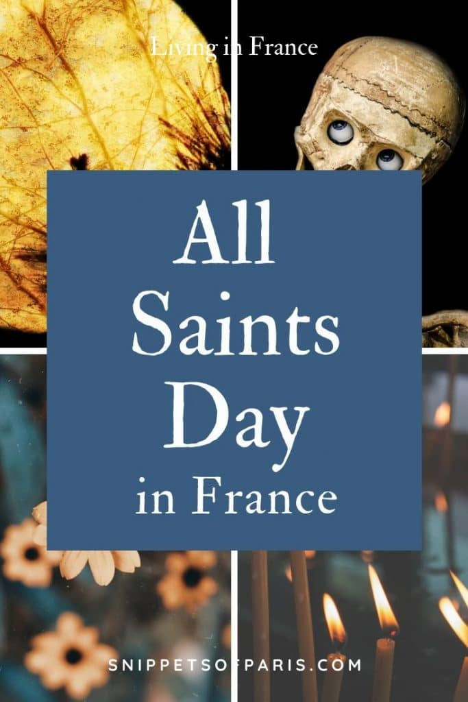 All Saints Day in France pin for pinterest
