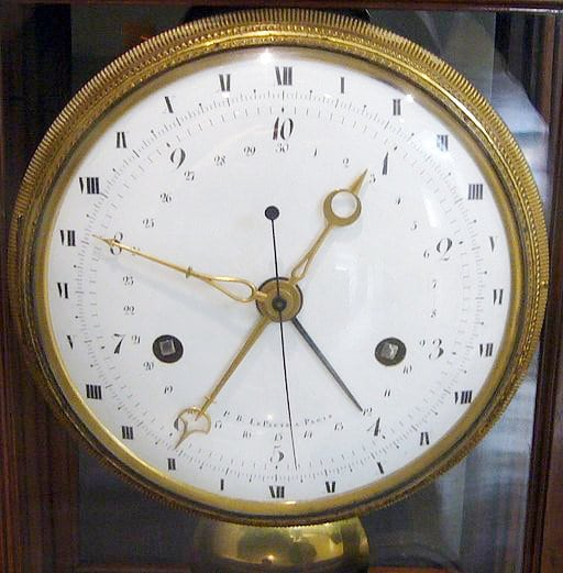 Clock in the French Revolutionary Calendar