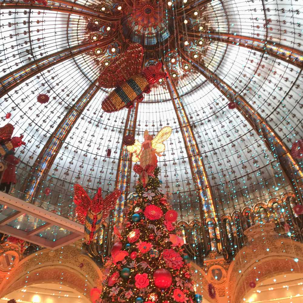 Christmas at Galerie Lafayette in Paris