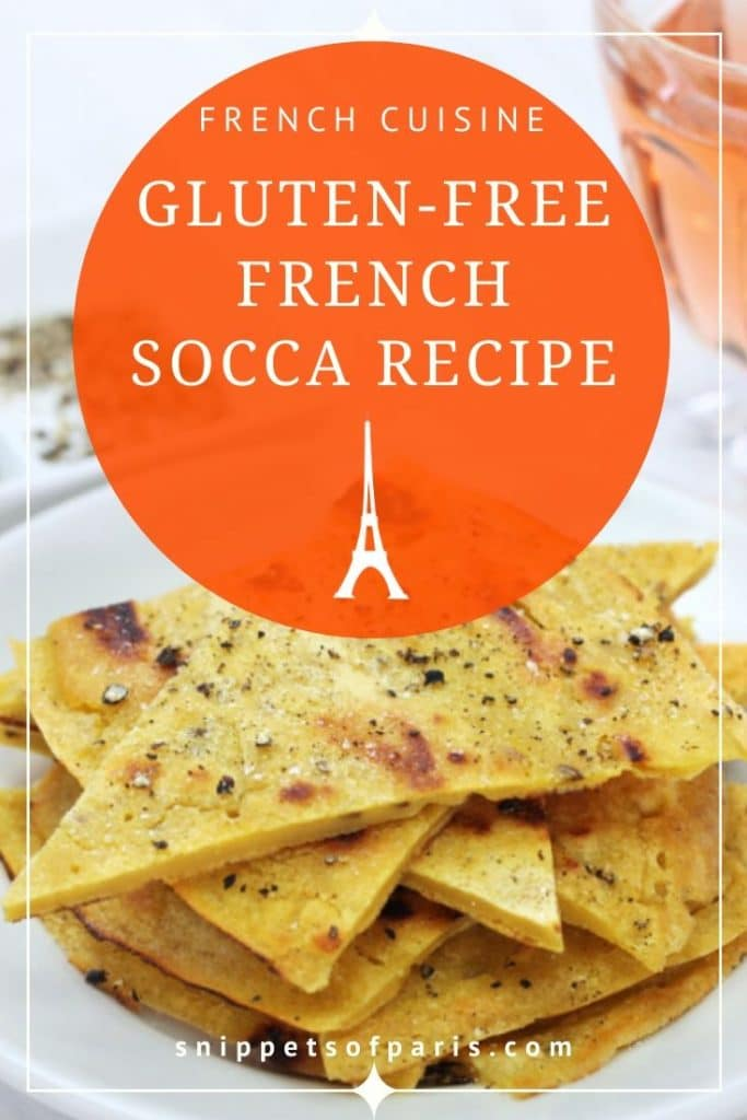 socca recipe pin for pinterest