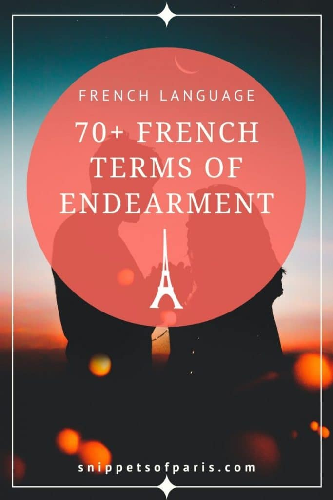 French terms of endearment pin for pinterest