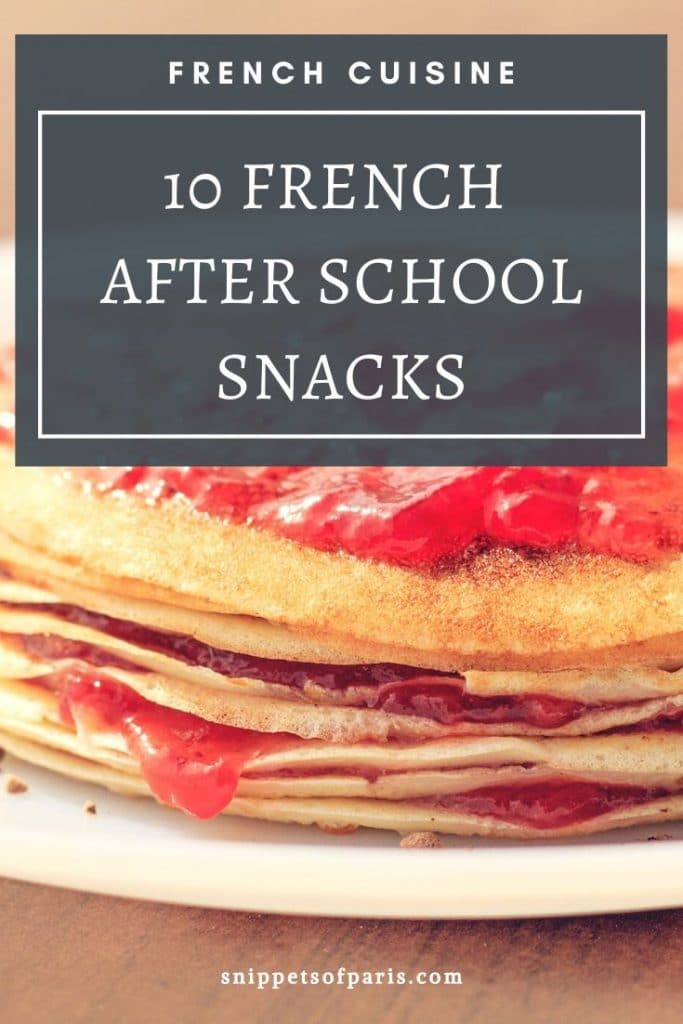 French Snacks pin for pinterest
