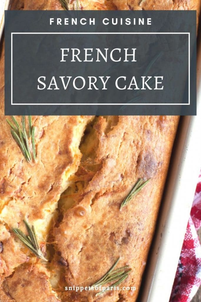 French savory cake pin for pinterest