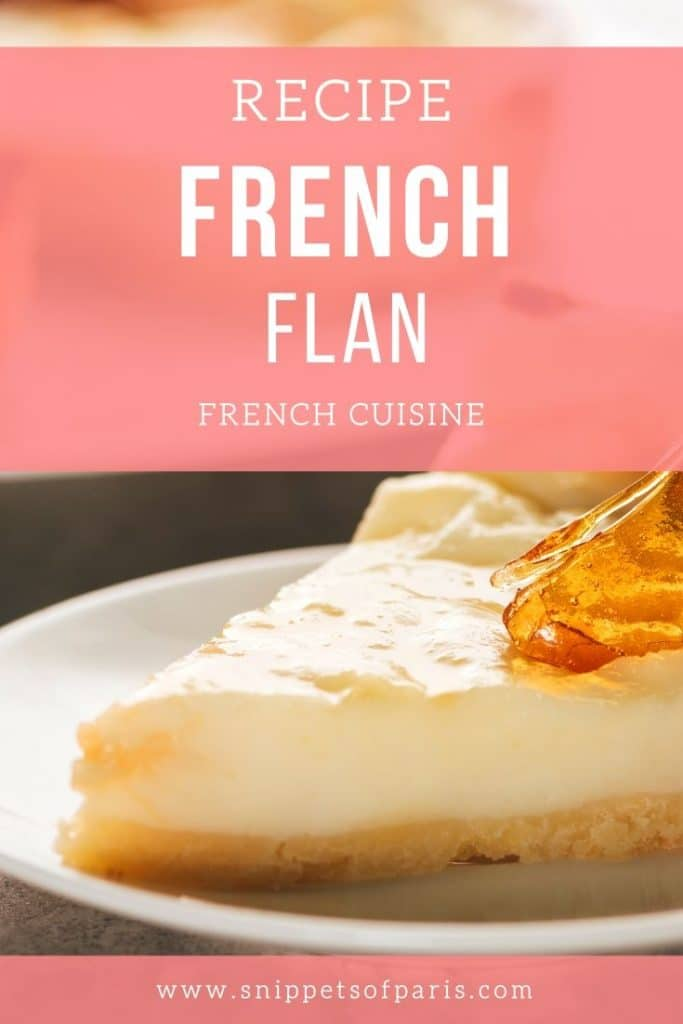 French flan recipe pin for pinterest