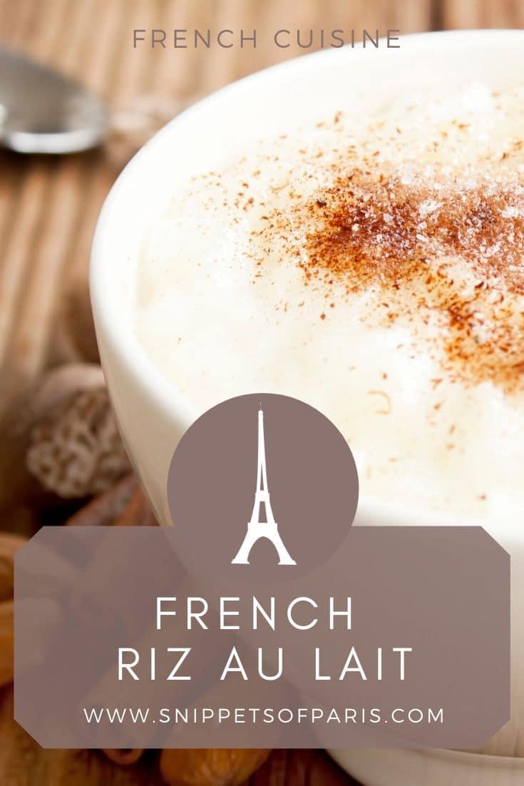 Riz au lait: A French Maman's Rice Pudding Recipe 1