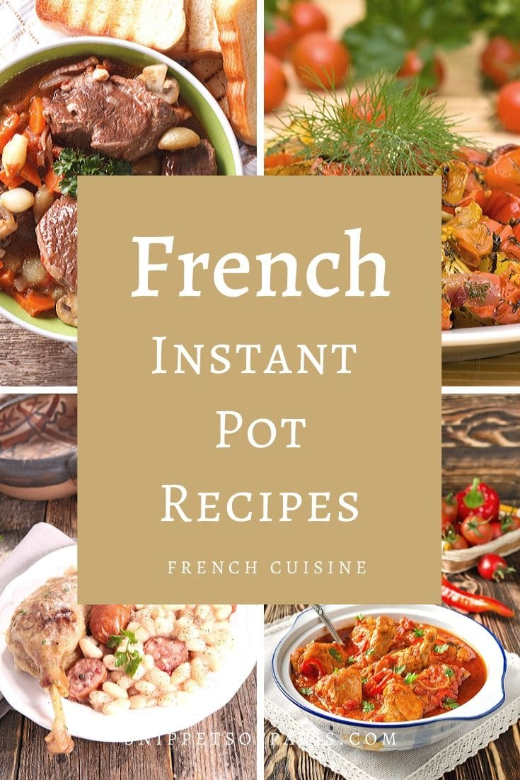 5 (Easy) French Recipes for the Instant Pot