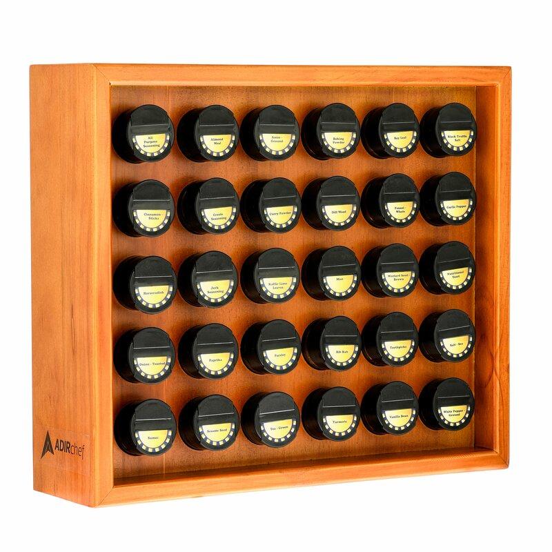 30 Jar Spice Jar & Rack Set