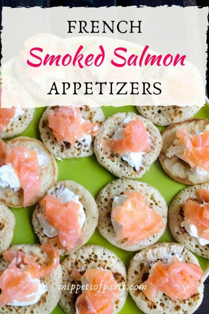 Smoked Salmon Canapés pin for pinterest