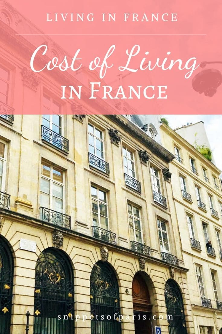 Anatomy of the Cost of Living in Paris, France (2020)