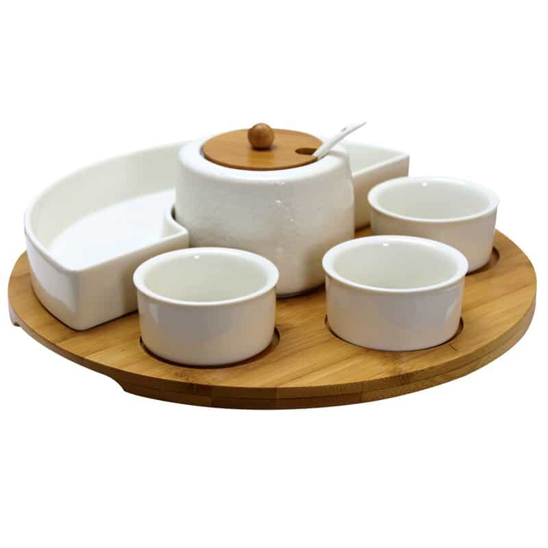 8 Piece Condiment Server Set