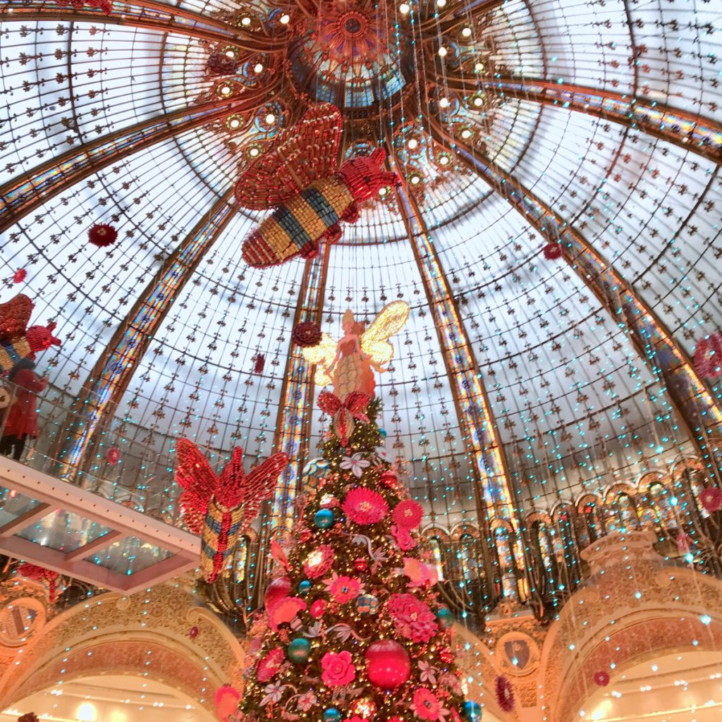 French christmas traditions - Galerie Lafayette in Paris