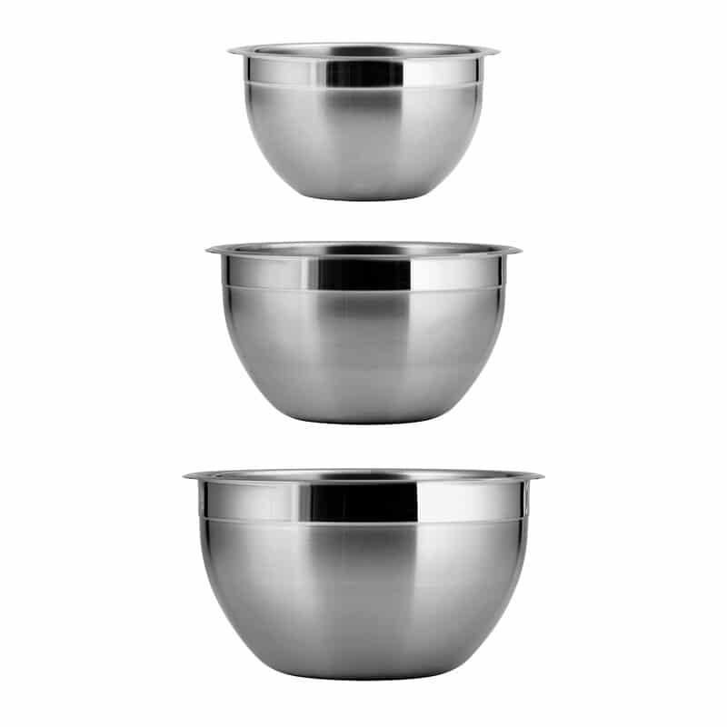 Tramontina Gourmet 3 Piece Stainless Steel Mixing Bowl Set