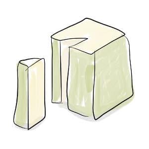 how to cut pyramid-shaped cheese (valençay)
