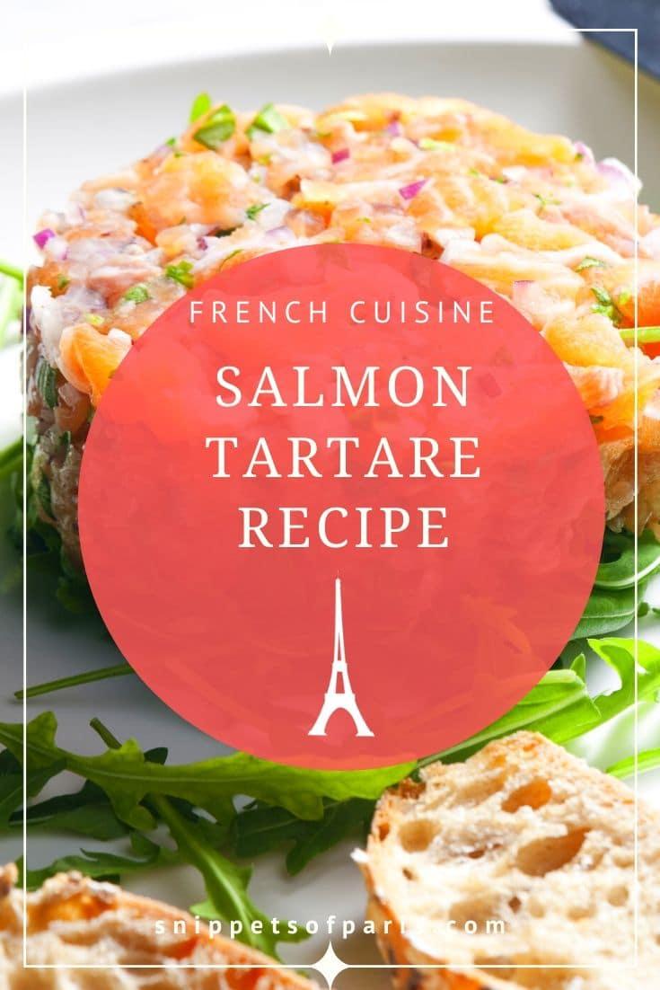 Gluten-free Starter: Salmon Tartare (French Recipe) 1