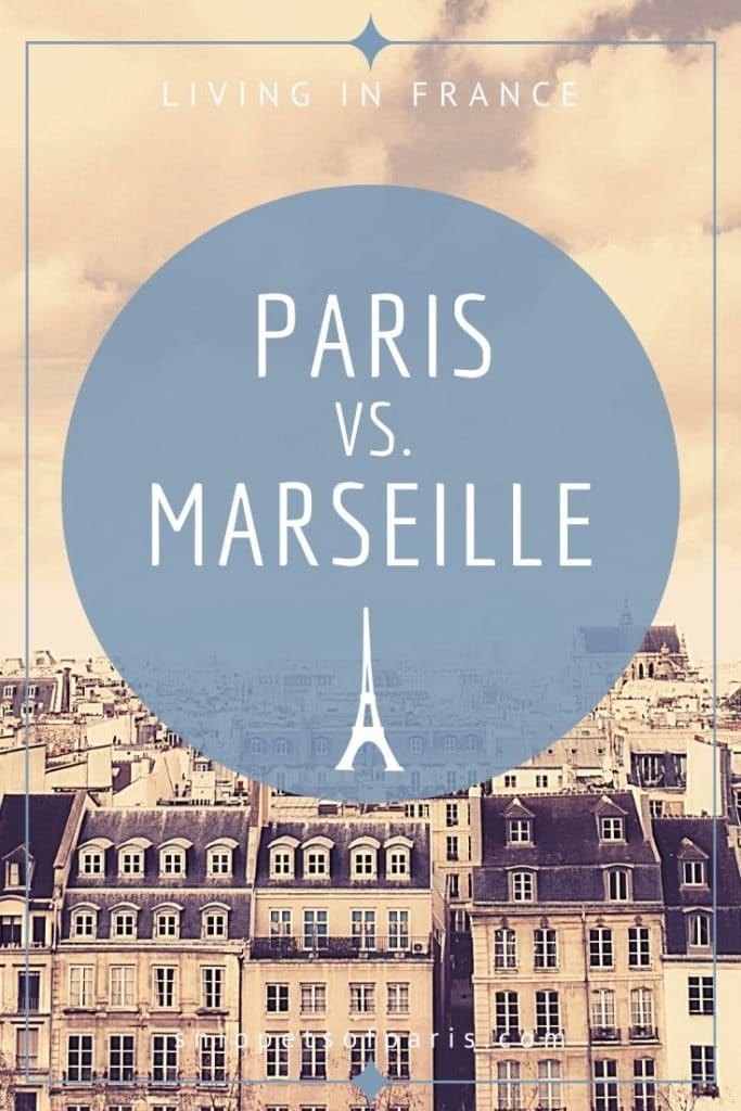 Paris vs Marseille pin for pinterest