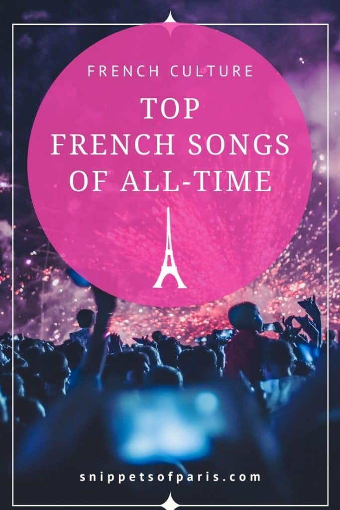 Famous French songs pin for pinterest