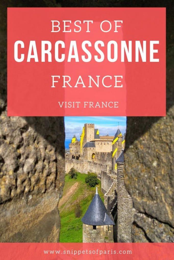 Visiting Carcassone, France pin