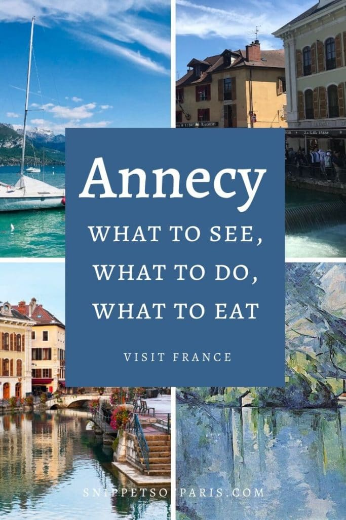 Things to do in Annecy pin for pinterest
