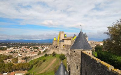 Visiting the fortress city of Carcassonne, France