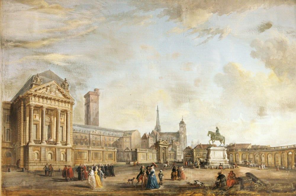 Palais des ducs de Bourgogne - Painting by Jean-Baptiste Lallemand at Musee des Beaux-Arts in Dijon