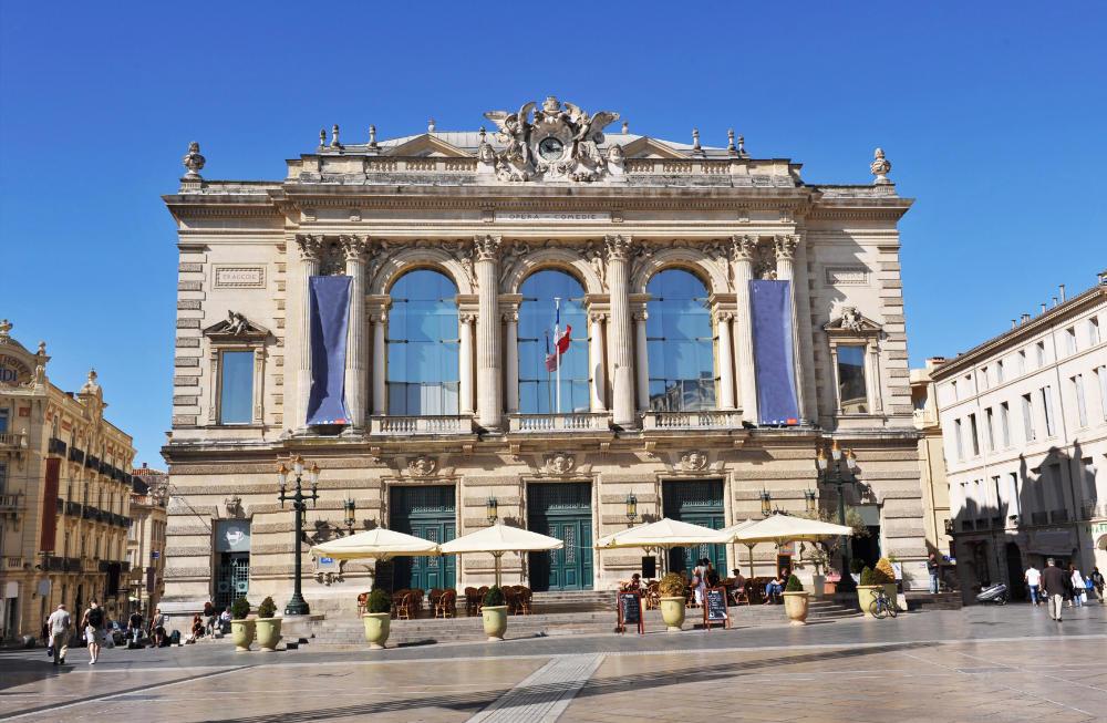 Opera House, Place de la Comedie in Montpellier