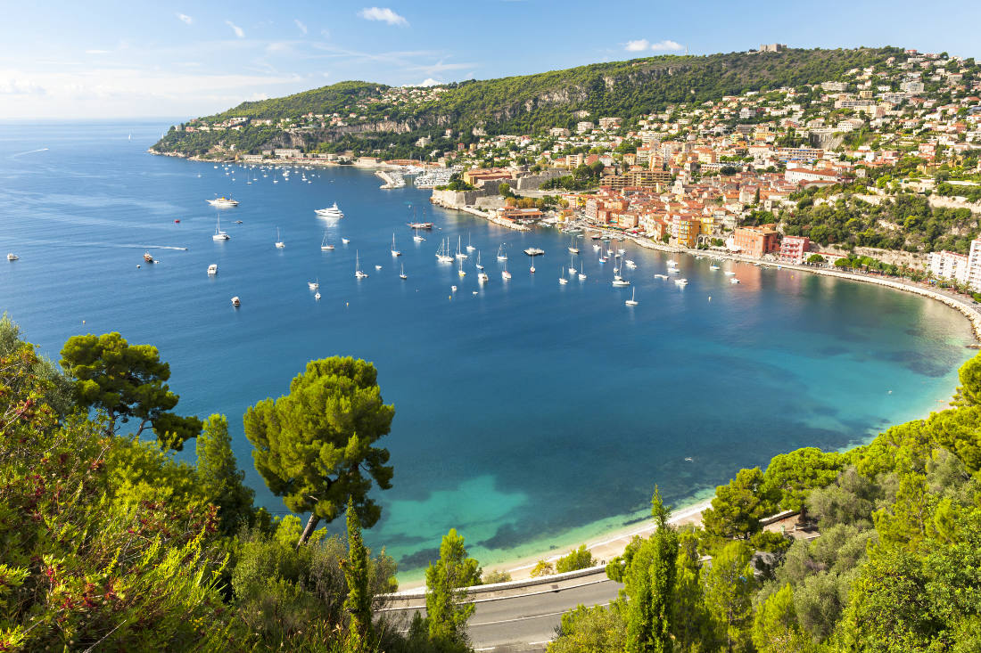 Villefranche sur mer on the French Riviera