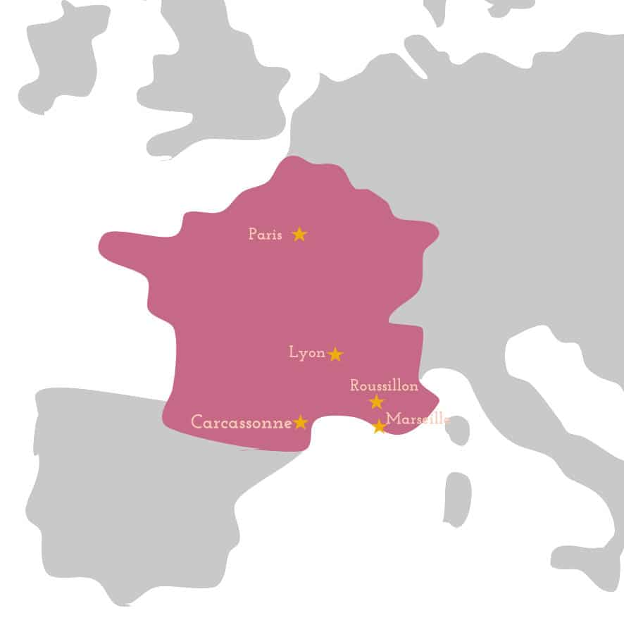 roussillon on a map