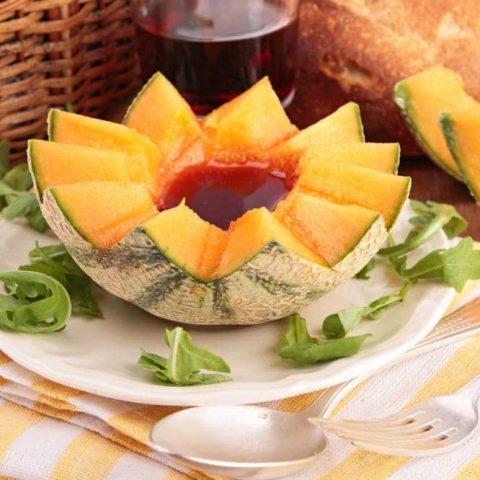 melon with porto
