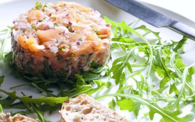 Gluten-free Starter: Salmon Tartare (French Recipe)