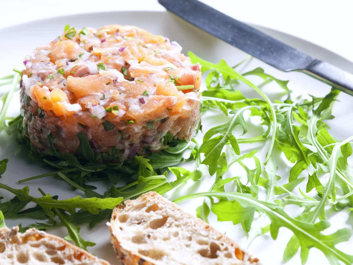 Gluten-free Starter: Salmon Tartare (French Recipe)