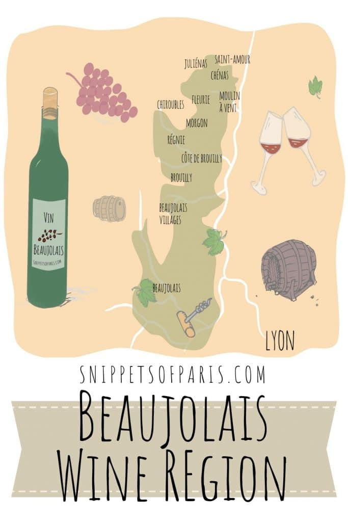Beaujolais wines region map pin on pinterest