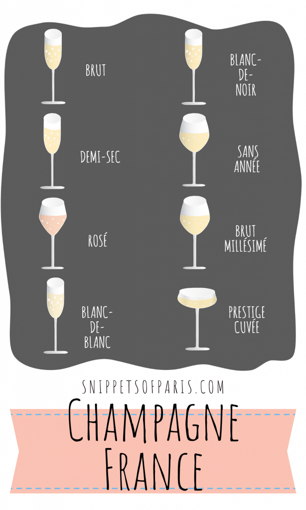 types of champagne pin for pinterest