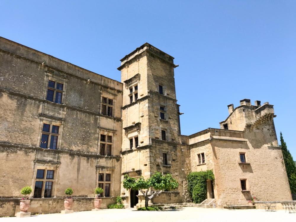 Courtyard at Château de Lourmarin