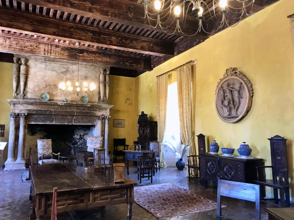 Inside Château de Lourmarin