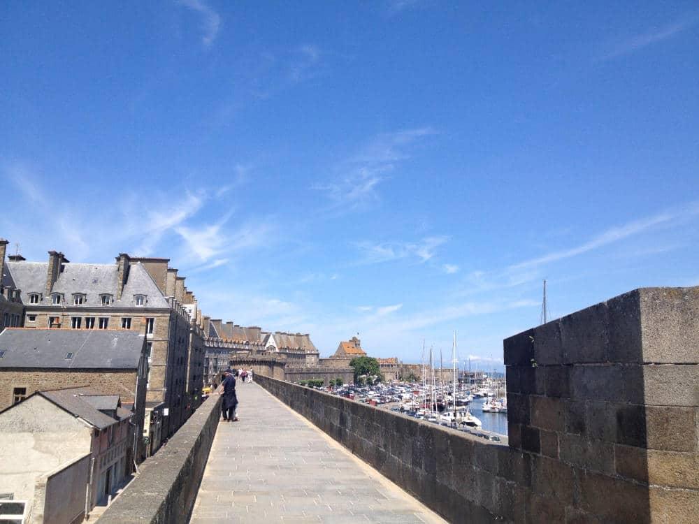Saint Malo on the coast of France