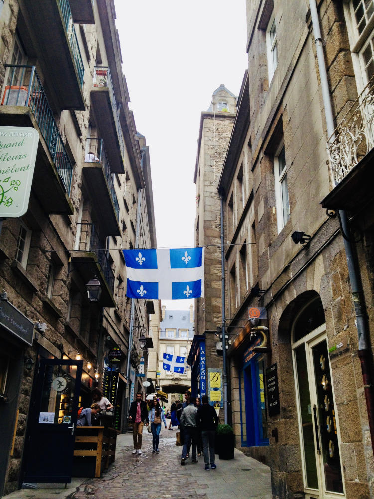 Quebecois flags in Saint-Malo, France
