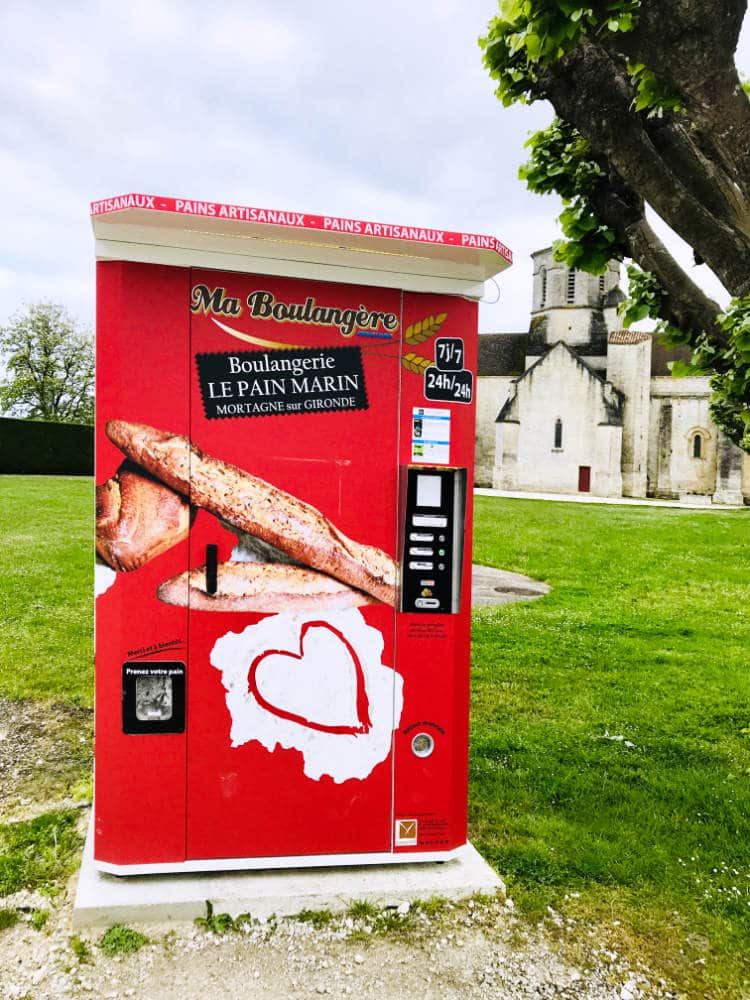 Baguette vending machine in France