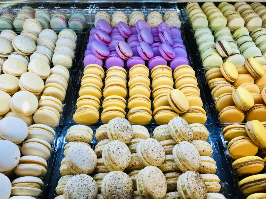macarons in a shop