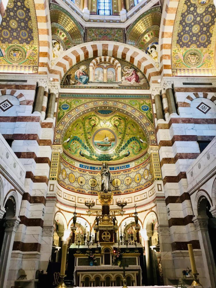 Inside Notre Dame de la Garde, Marseille, France
