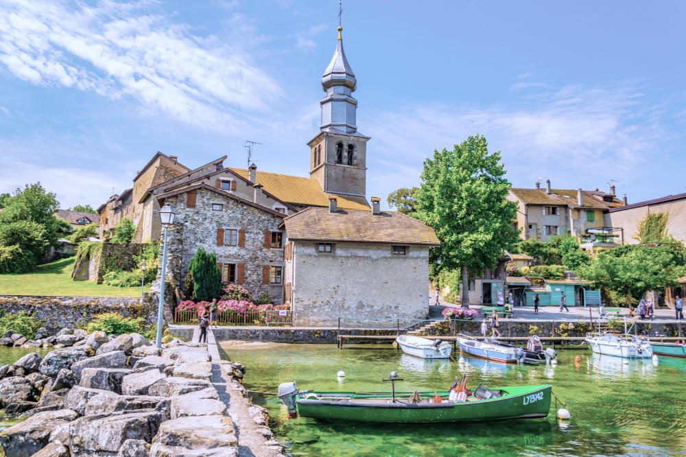 Saint Pancras Church in Yvoire France