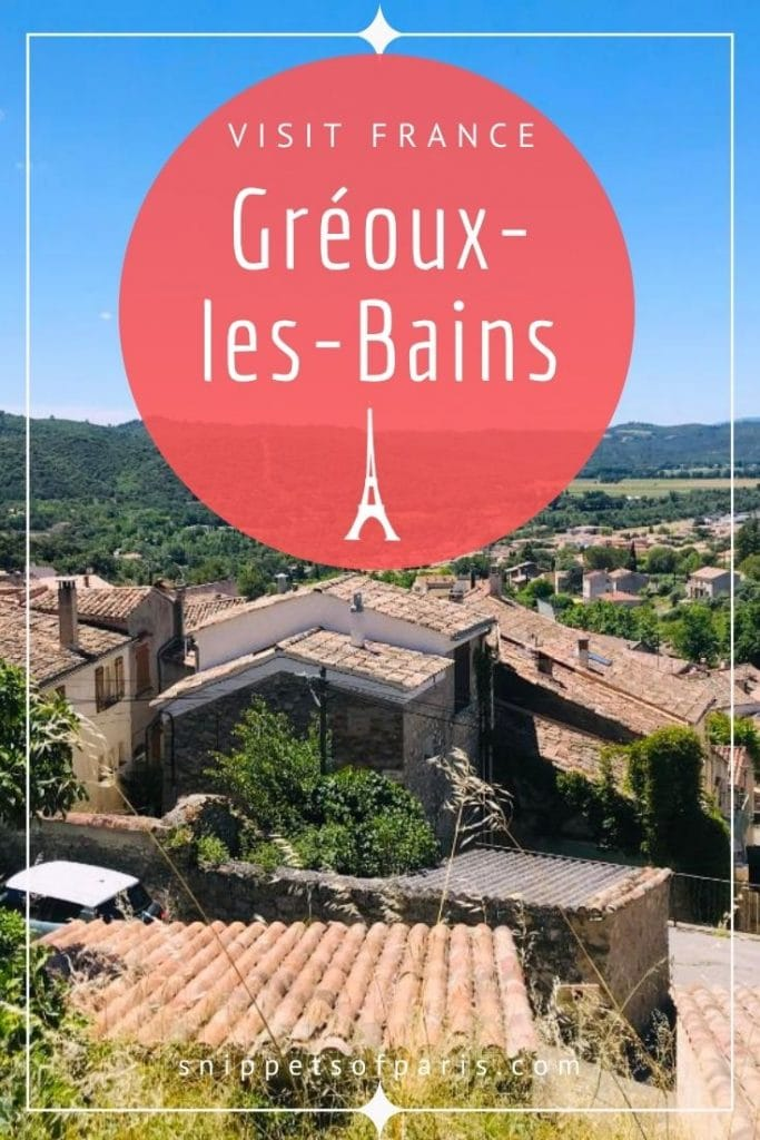 Gréoux-les-Bains pin for pinterest