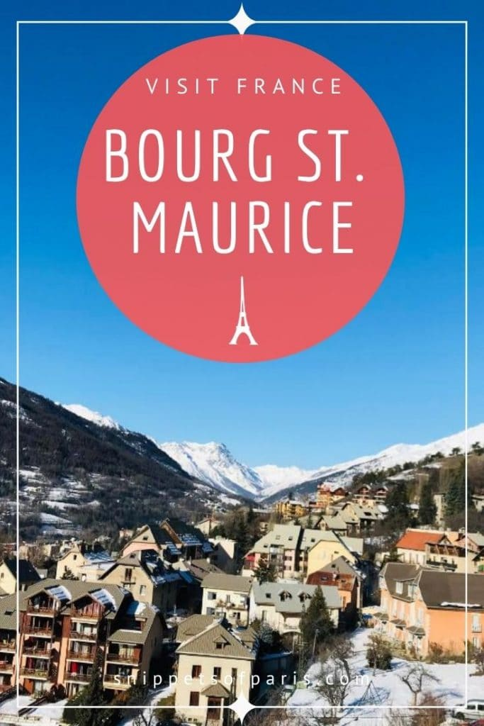 bourg st maurice - pin for pinterest