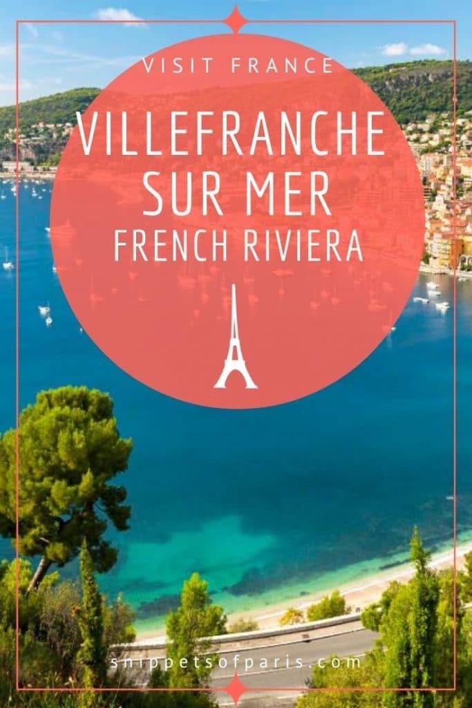 Visit Villefranche-sur-Mer pin for pinterest