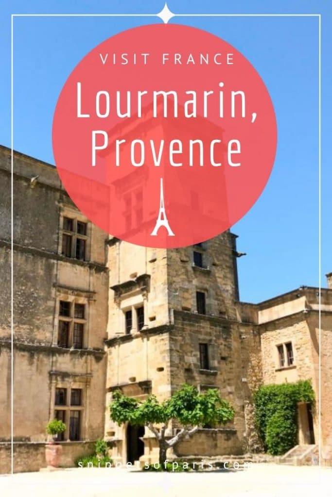 Lourmarin, France pin for pinterest