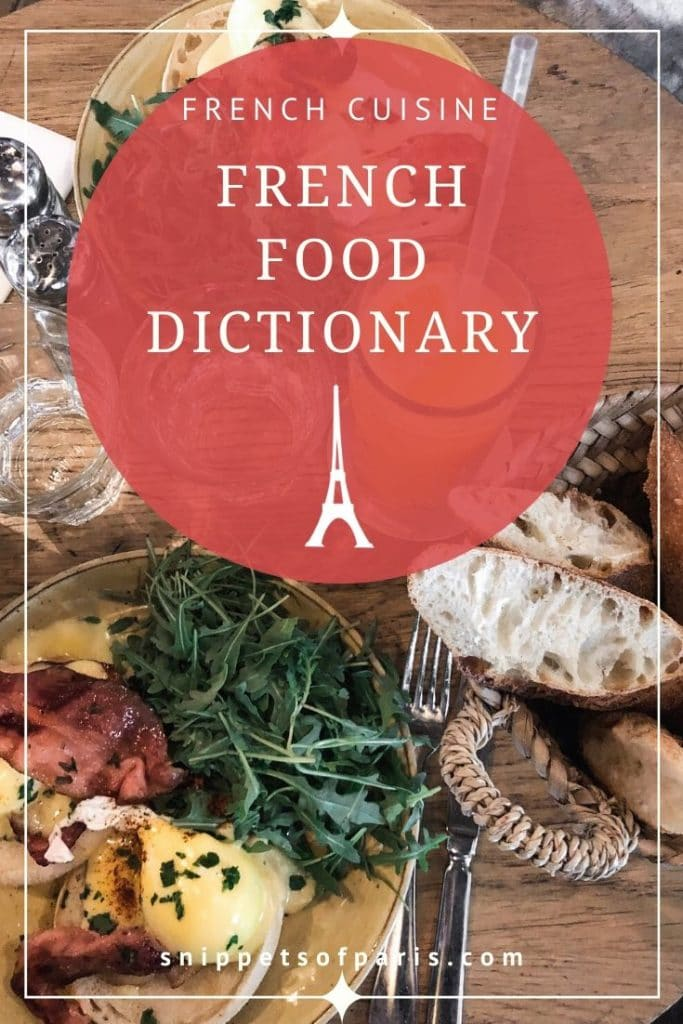 French food dictionary pin for pinterest