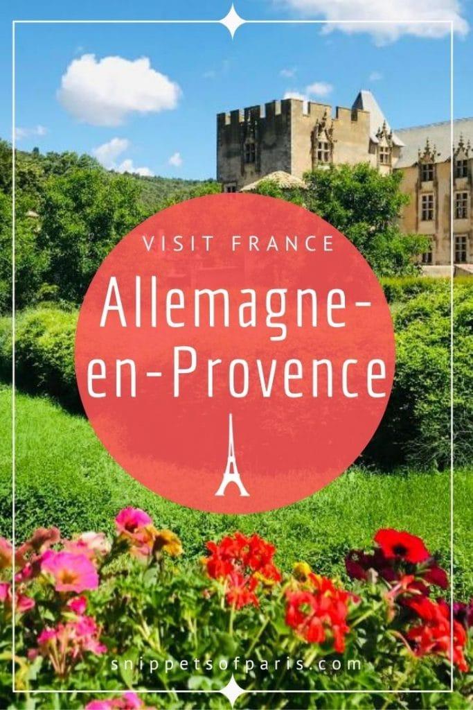 Allemagne-en-Provence pin for pinterest