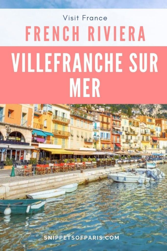 Things to do in Villefranche-sur-Mer pin for pinterest